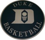 Duke Basketball 8' Diamtere Cut From Lees Carpet