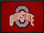 Ohio State University 7' X 5' Made For Sandhills Alumni Club Raffle Cut From 42oz Bentley Carpet
