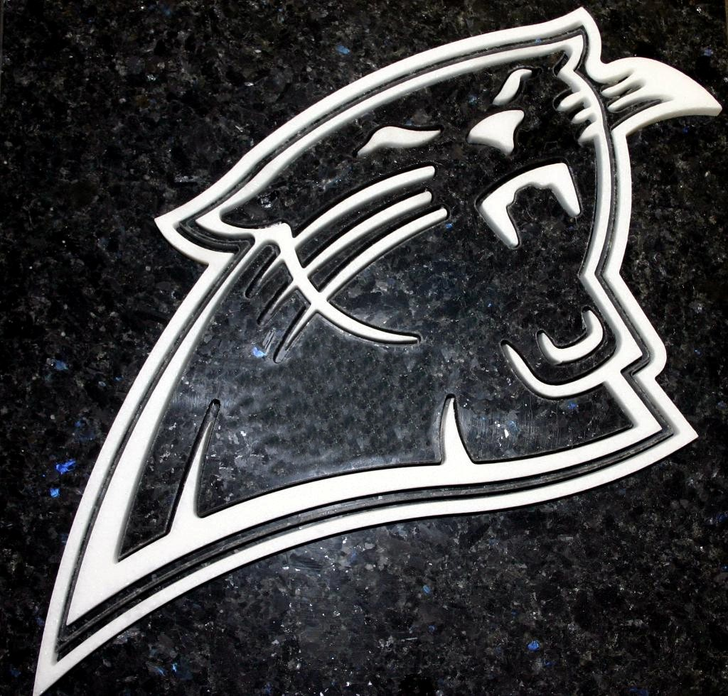 Panther Head Logos Panther Head 12 Quot x 12 Quot Granite