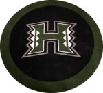 University of Hawaii 6' Diamtere Cut From Bentley, Lees & Gulistan Carpet Donated By Chevron